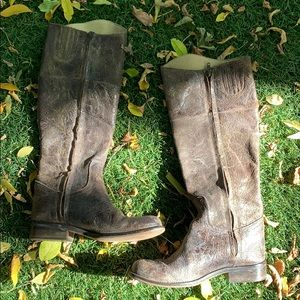 Steve by Steve Madden Boots distressed leather
